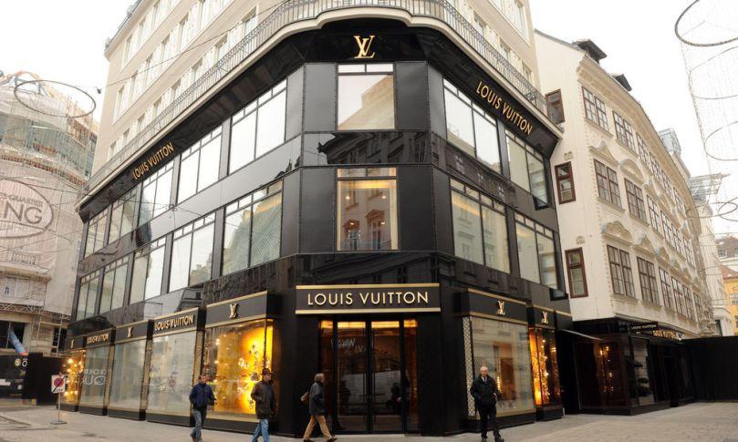 Louis Vuitton Shop in der Tuchlauben in Wien 1 Foto: Clemens Fabry